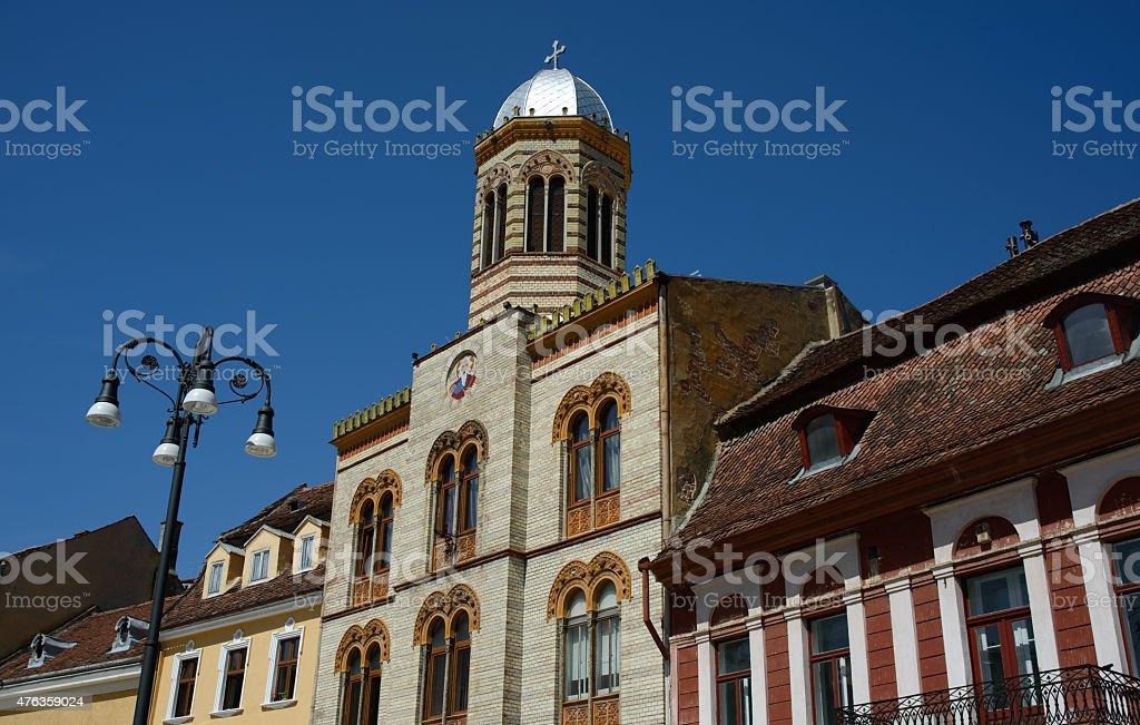 Saint Nicholas church in Brasov stock photo