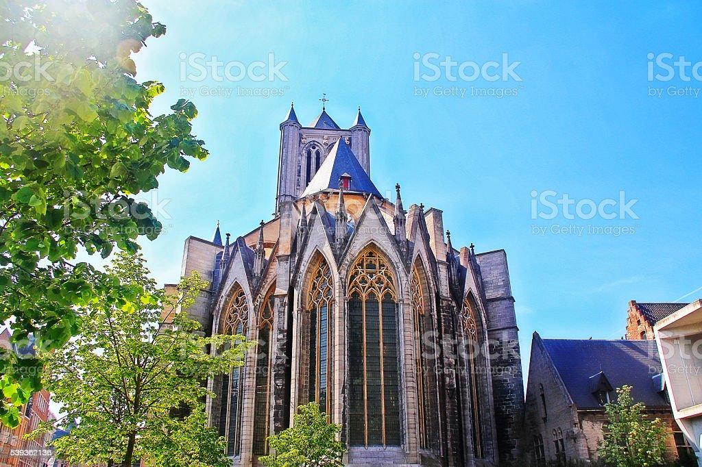 Saint Nicholas Church (Sint-Niklaaskerk) in Ghent (Gent), Belgium stock photo