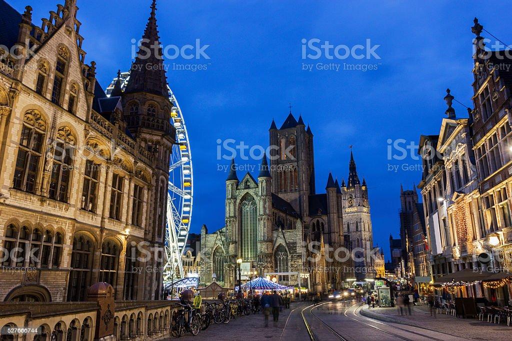 Saint Nicholas' Church in Ghent in Belgium stock photo