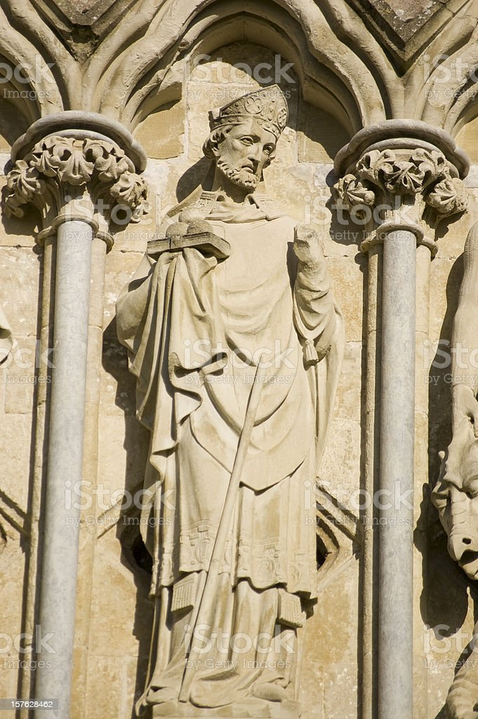 Saint Nicholas Statue, Salisbury stock photo