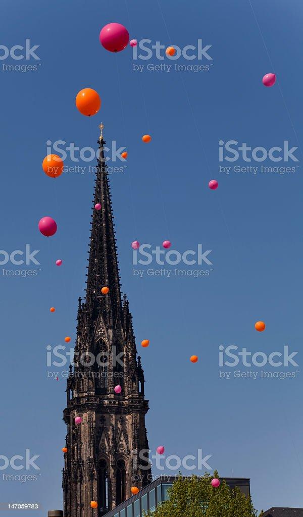 Saint Nikolai Church Hamburg royalty-free stock photo