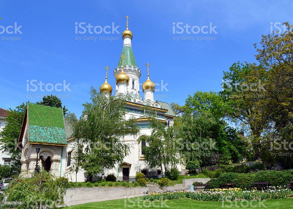 Saint Nikolay Church stock photo