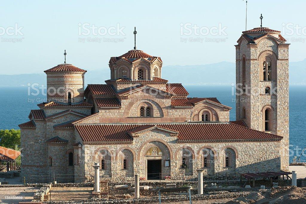Saint Panteleymon Church In Ohrid, Republic Of Macedonia stock photo