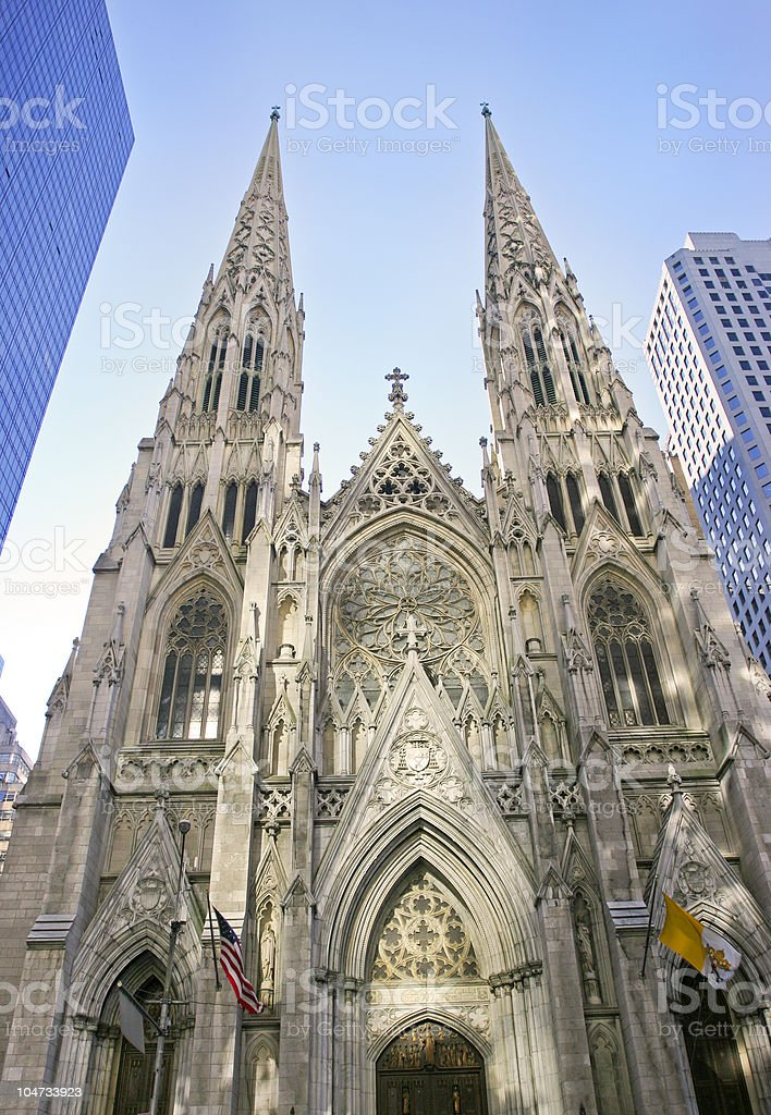 Saint Patrick Cathedral, New York City stock photo