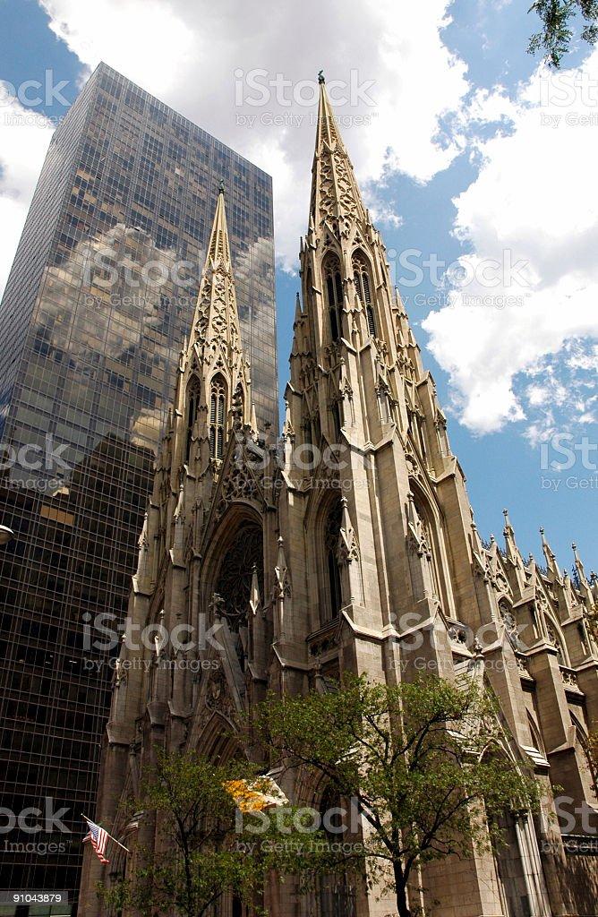 Saint Patrick Cathedral stock photo