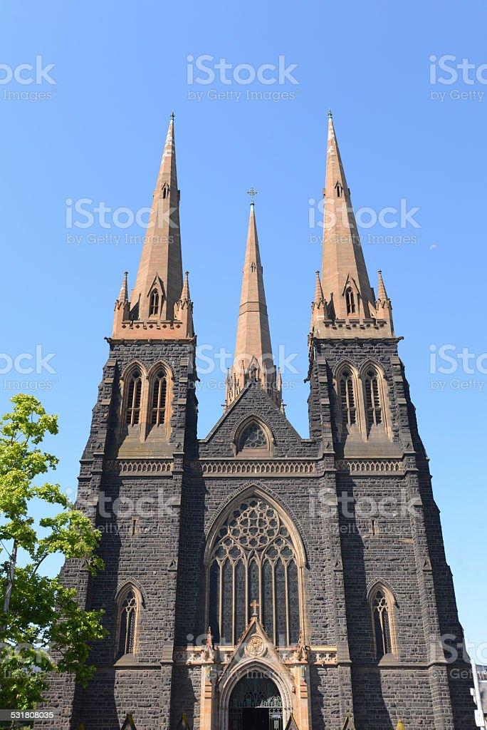 Saint Patrick's Cathedral, Melbourne stock photo