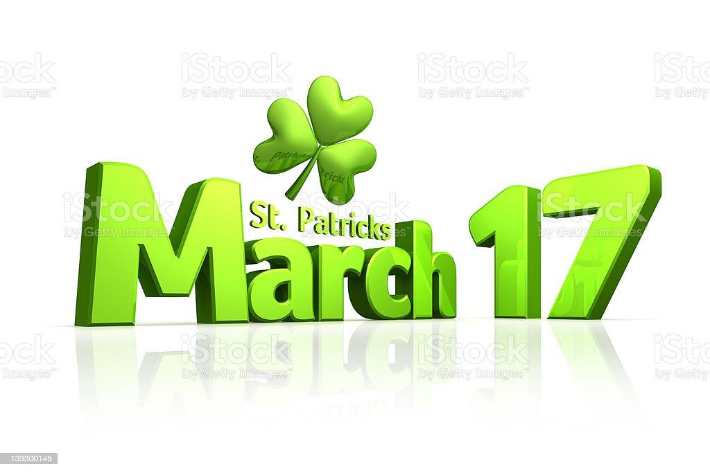 Saint Patricks Day March 17 royalty-free stock photo