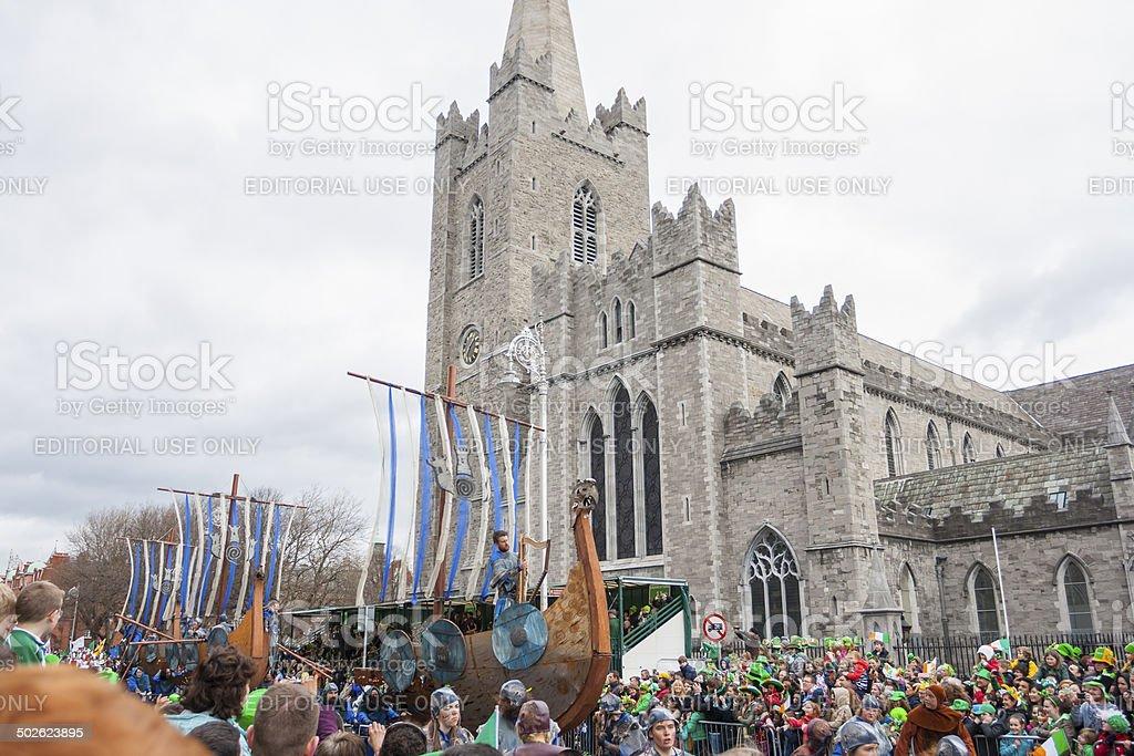 Dublin, Ireland - March 17: Saint Patrick's Day parade stock photo