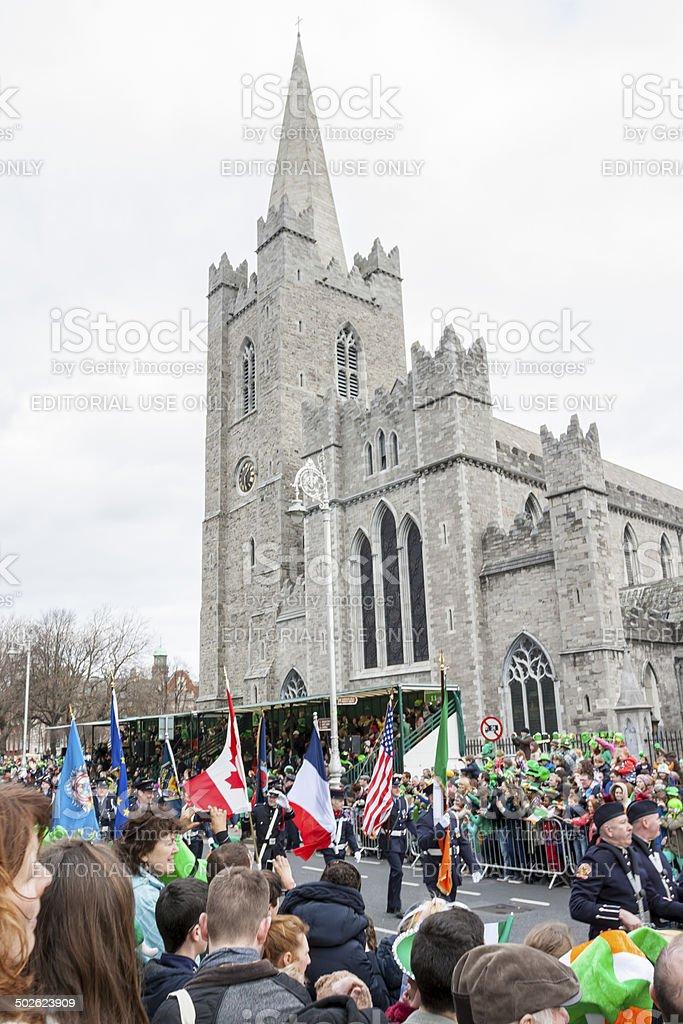 Dublin, Ireland - March 17, 2014: Saint Patrick's Day parade stock photo