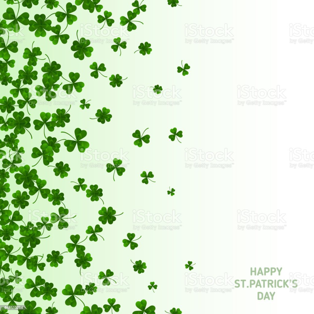 Saint Patrick's Day Vertical Banner with Clovers stock photo