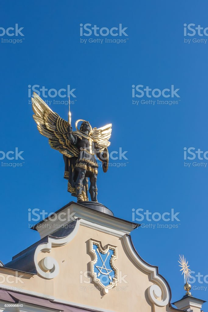 Saint patron of Kiev - archangel Michael stock photo