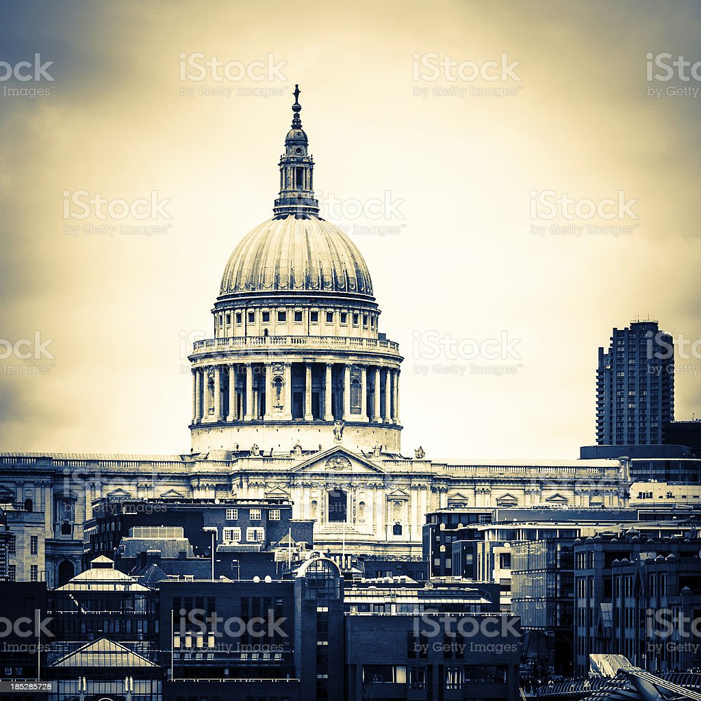 Saint Paul's Cathedral in London, UK royalty-free stock photo
