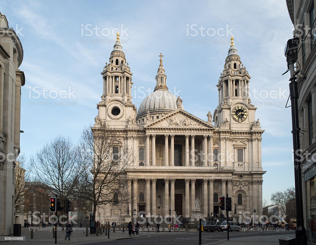 Saint Paul's cathedral, London, west front. stock photo