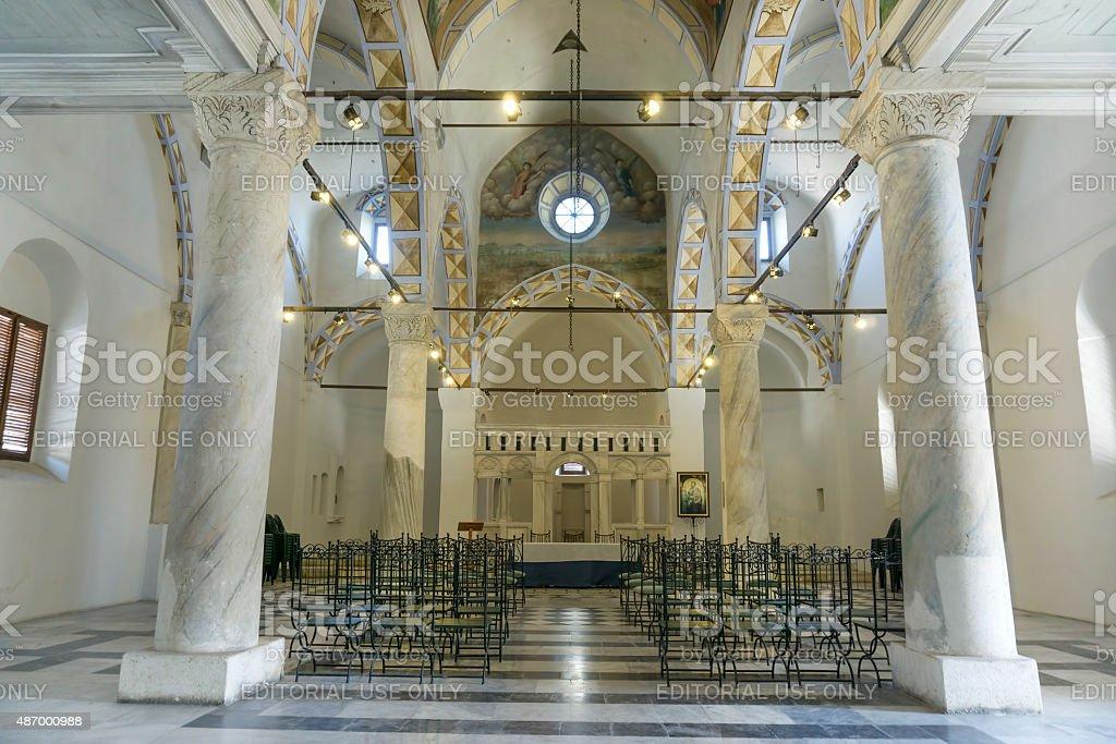 Saint Paul's Church Interior, Tarsus, Turkey stock photo