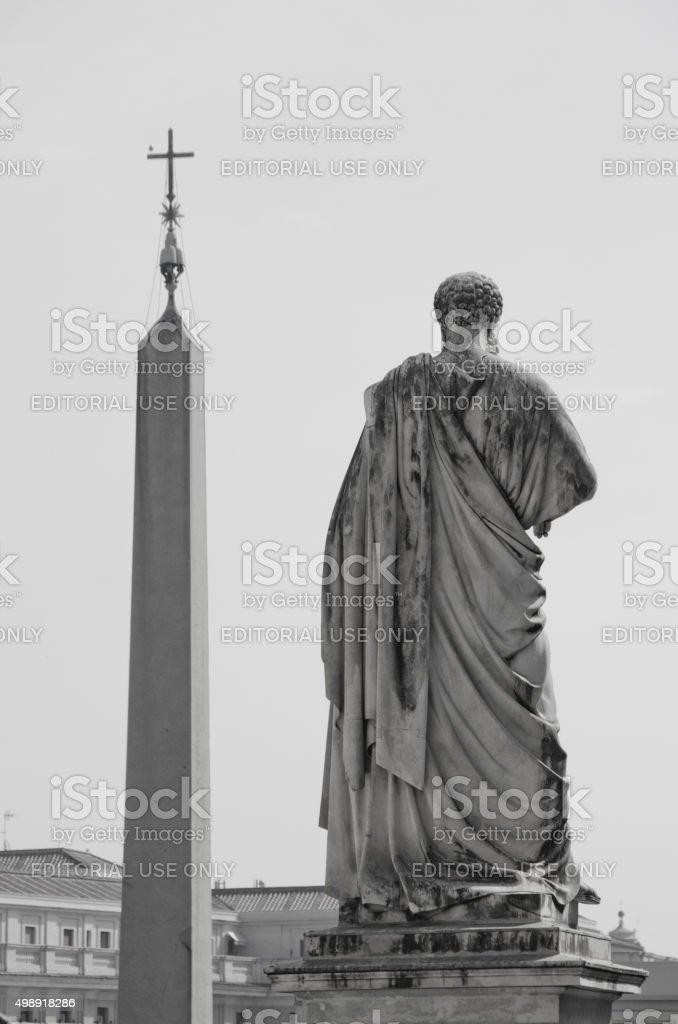 Saint Peter and Egyptian Obelisk stock photo