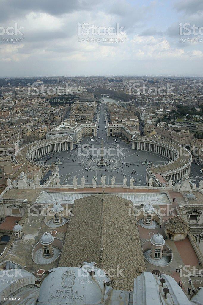 Saint Peter Basilic in Vatican City Rome stock photo