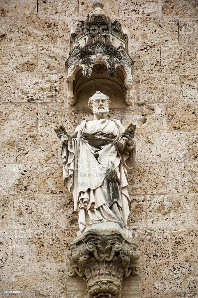 Saint Peter, basilica Assumption of the Virgin Mary stock photo