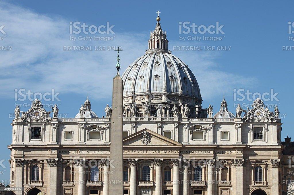 Saint Peter Basilica in Vatican City royalty-free stock photo