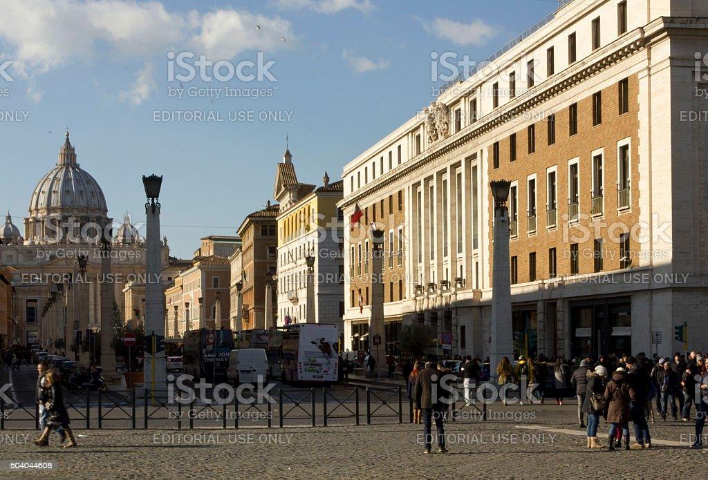 Saint Peter Basilica in Vatican City stock photo