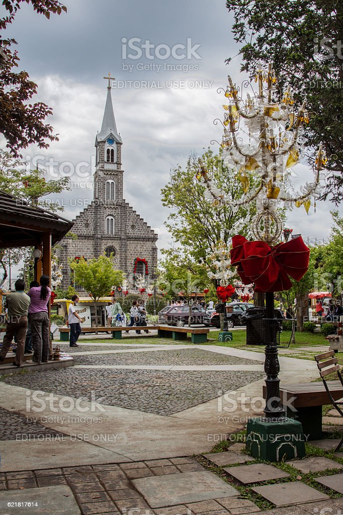 Saint Peter Church in Gramado stock photo