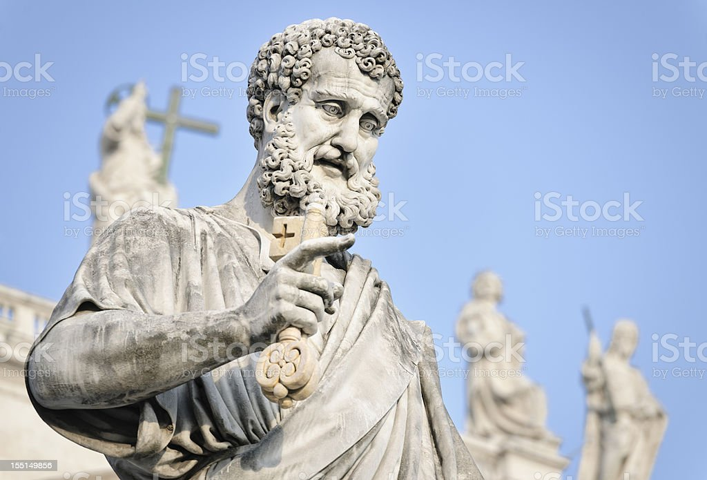 Saint Peter Holding a Key stock photo