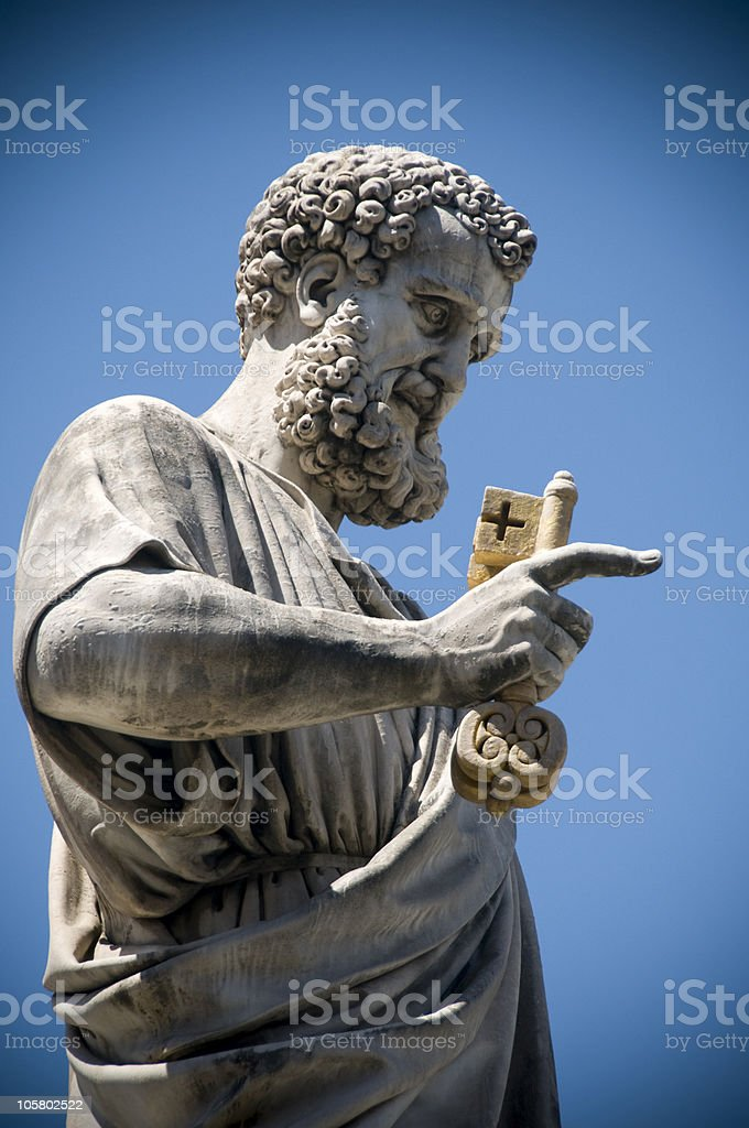 Saint Peter. royalty-free stock photo