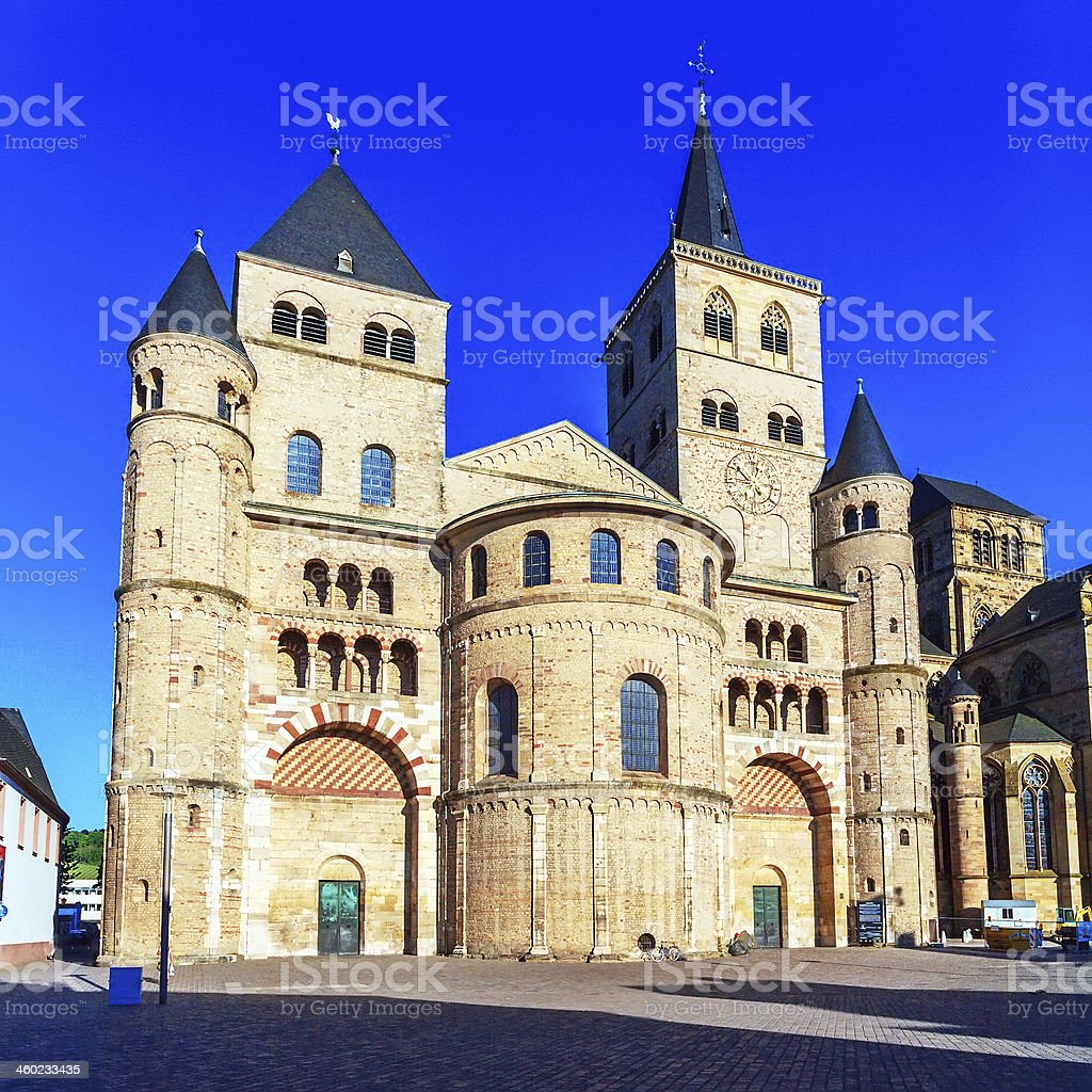 Saint Peter Roman Cathedral, Trier stock photo