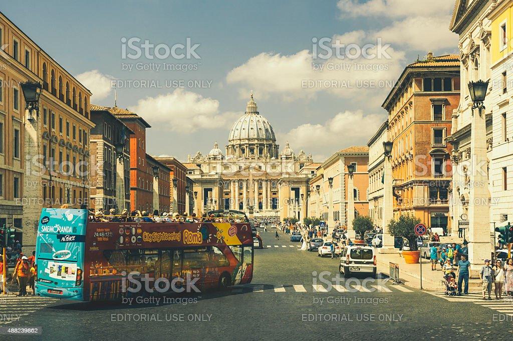Saint Peter's Basilica, Vatican stock photo