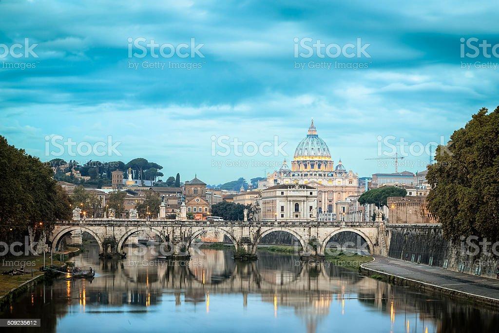 Saint Peter's Basilica - Vatican stock photo