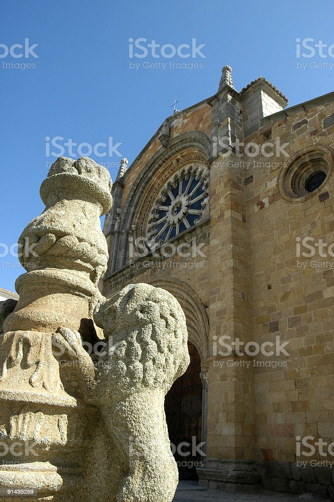 Saint Peter's church, Avila (Spain) royalty-free stock photo