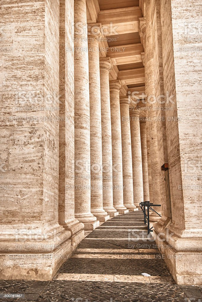 Saint Peter's colonnade royalty-free stock photo