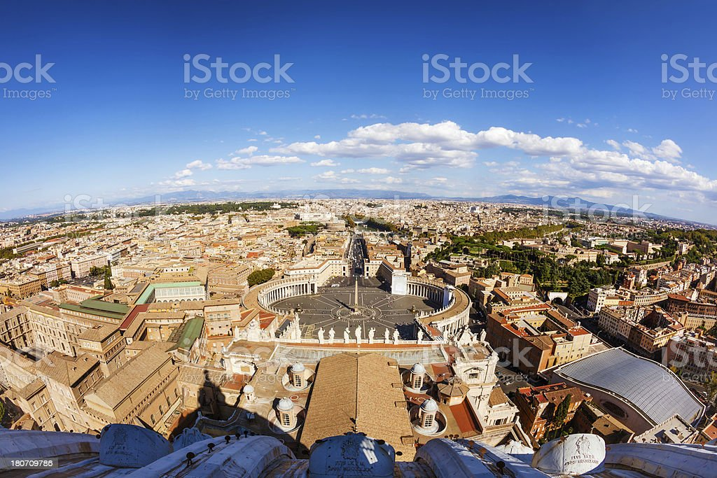 Saint Peters Square, Rome royalty-free stock photo