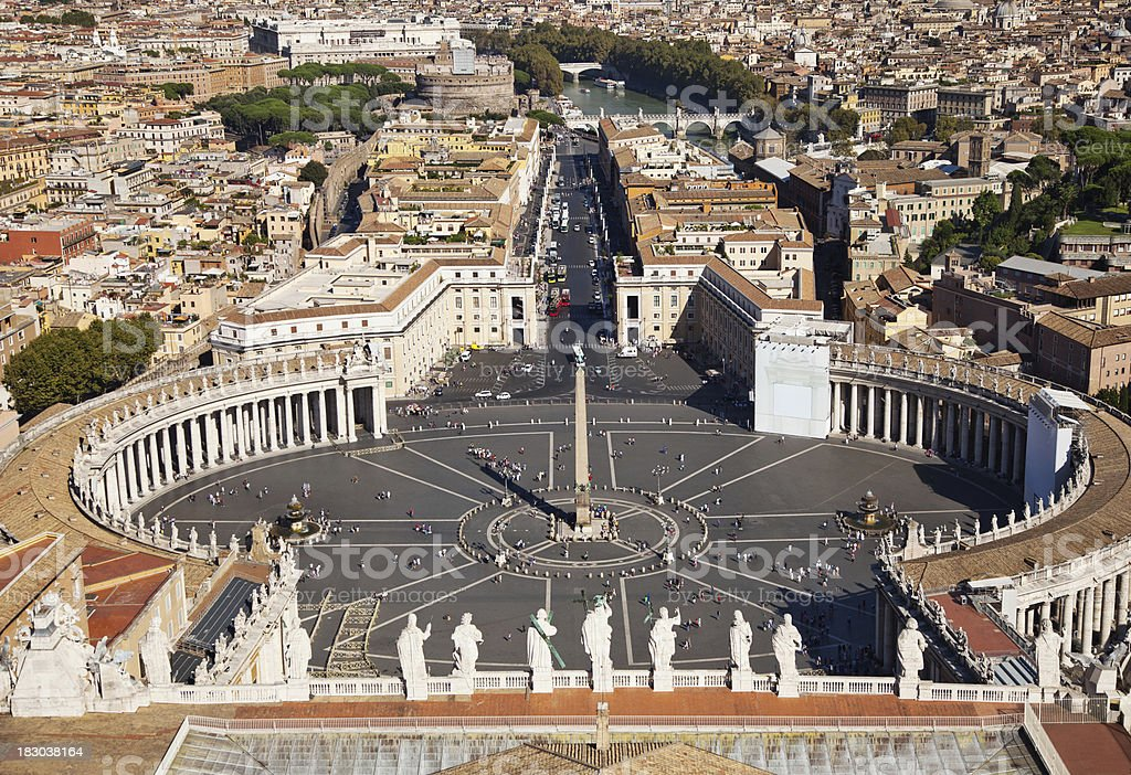 'Saint Peters Square, Rome' stock photo