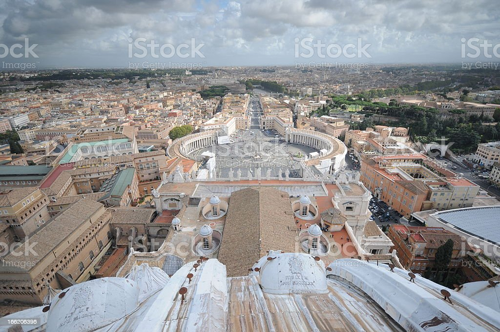 Saint Peters Square, Rome Seen From Sistine Chapel, Italy royalty-free stock photo