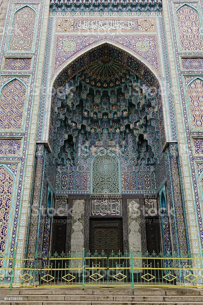 Saint Petersburg Mosque in Russia stock photo