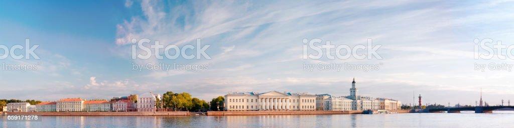 Saint Petersburg panaromic landscape stock photo