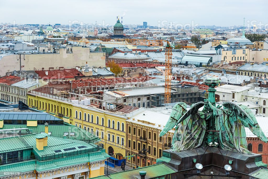 Saint Petersburg view from Isaac's Cathedral stock photo