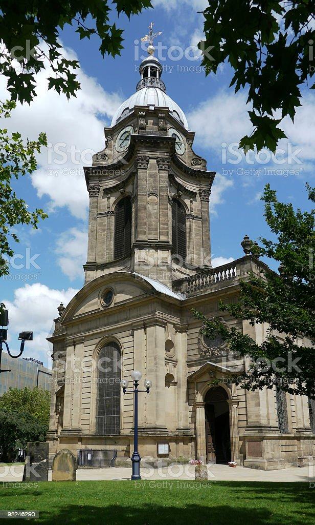 Saint Philip's Cathedral, Birmingham royalty-free stock photo