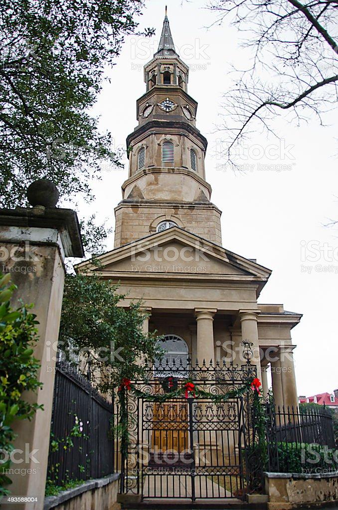 Saint Philip's Church in Charleston stock photo