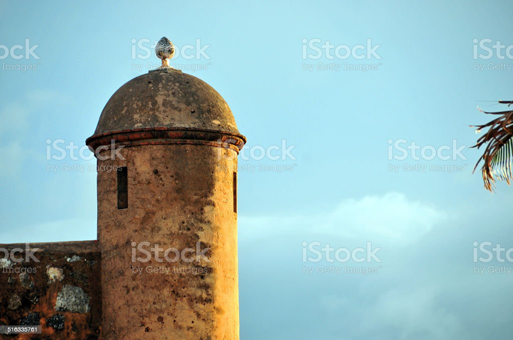 Saint Phillip fort, Puerto Plata, Dominican republic - guerite stock photo