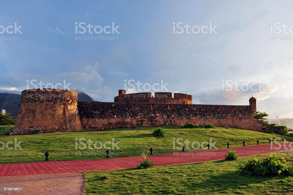 Saint Phillip fort, Puerto Plata, Dominican republic stock photo