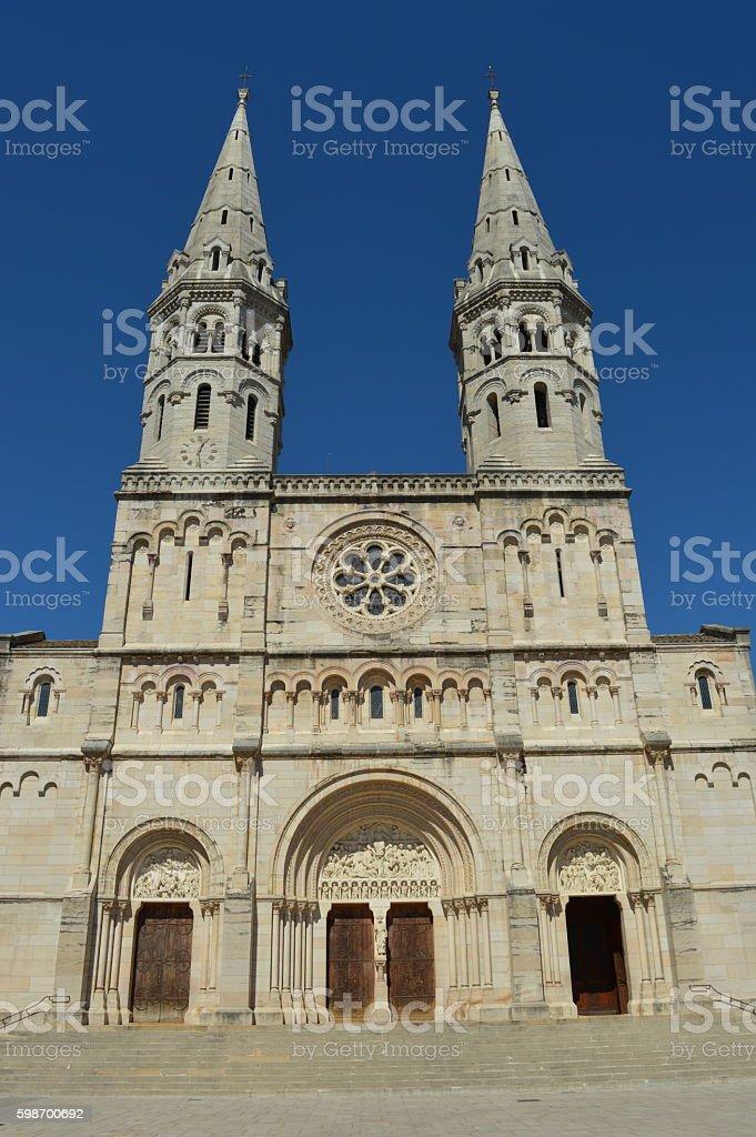 Saint Pierre church of Macon stock photo
