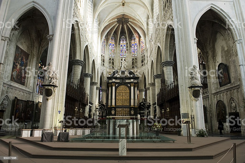 saint rombouts cathedral Belgium royalty-free stock photo