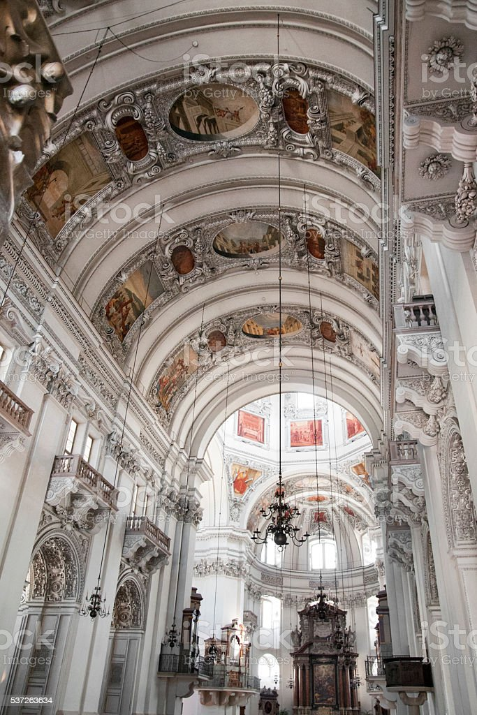 Saint Rupert church - Salzburg in austria stock photo