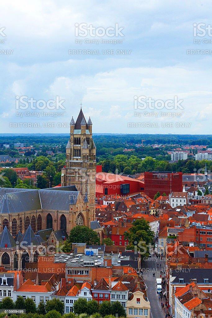 Cattedrale di Saint Salvator, Bruges foto stock royalty-free