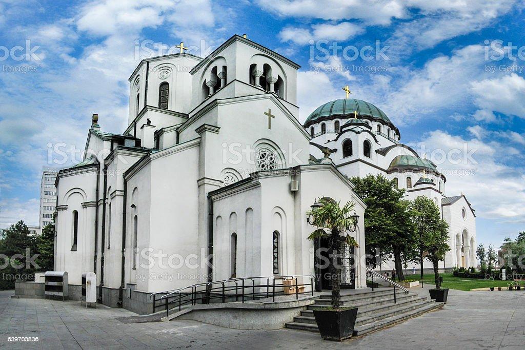 Saint Sava Cathedral Belgrade stock photo