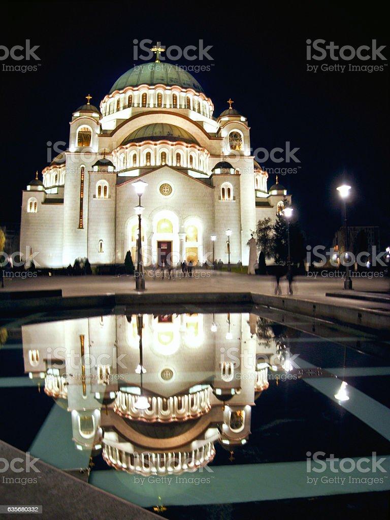 Saint Sava Cathedral in Belgrade stock photo