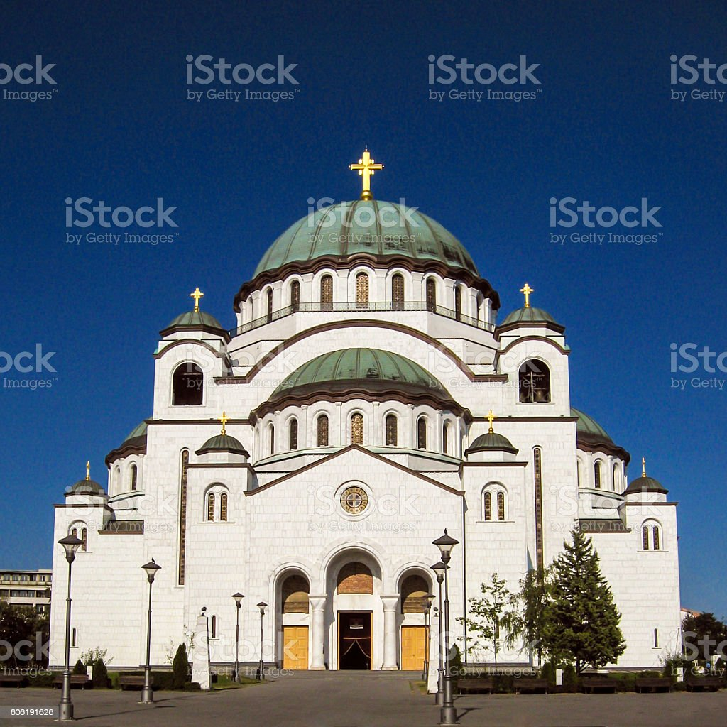 Saint Sava Cathedral stock photo