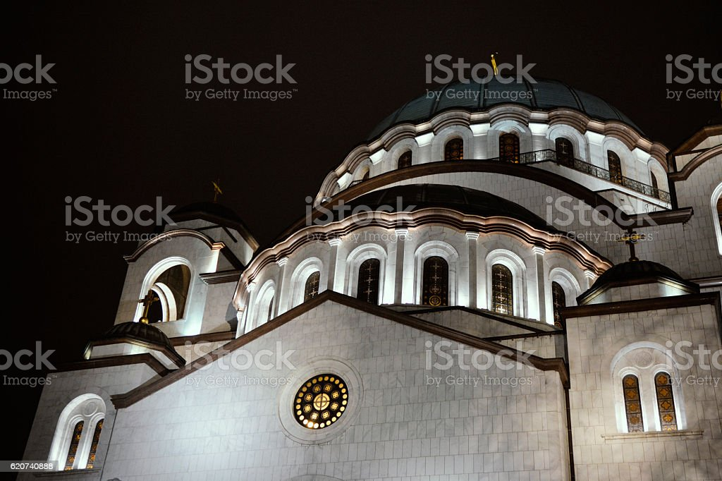 Saint Sava church in Belgrade, Serbia stock photo
