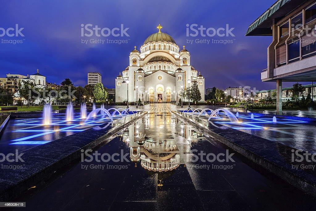 Saint Sava Temple stock photo